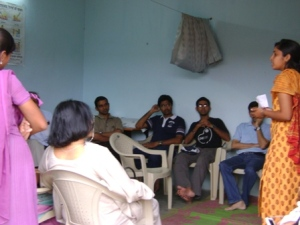 During a field visit to Rasoolpura slum worked on by the NGO Bhumi